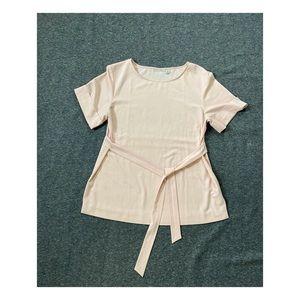Light pink short sleeve blouse